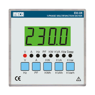 1 Phase Multifunction Meter-TRMS /  RS-485 Port (Optional)